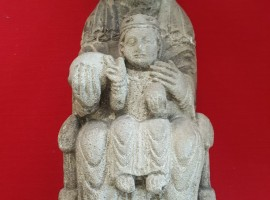 Stone Sculpture Virgin and Child, ca. 16th cen.